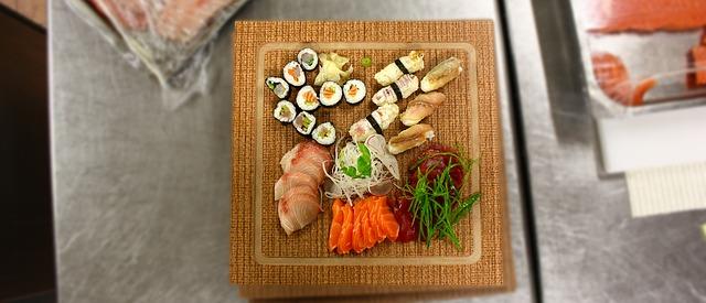 ochutnávka sushi