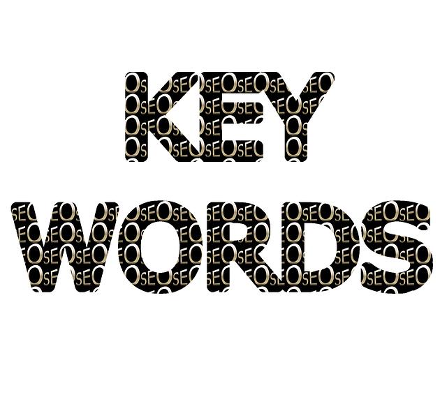 tmavý nápis, key words