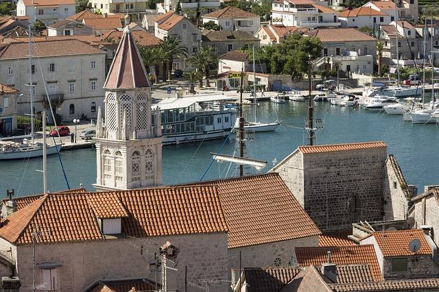 pohled na Trogir