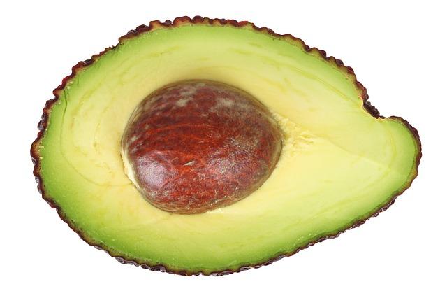 půlka avokáda