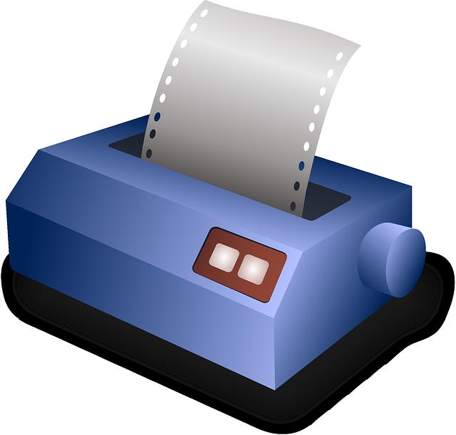 klasická kancelářská tiskárna