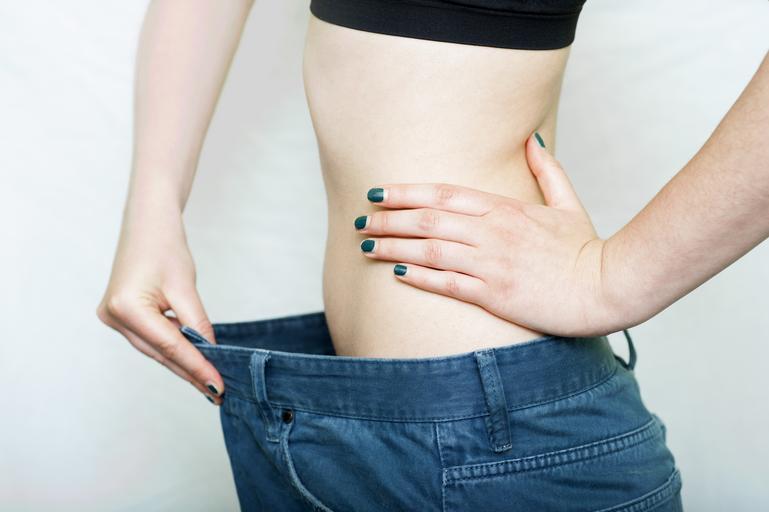 porovnání oblečení po skončení diety