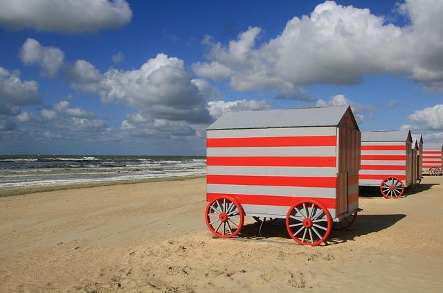 Mobilní plážový domek