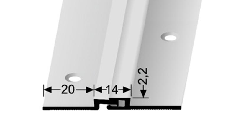 Dilatační profil Küberit 316 pro krytiny do 2mm ( šroubovací )25